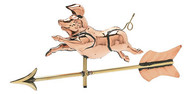Weathervane - Polished - Cottage Pig w/ Arrow