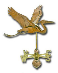 Weathervane - Polished - Cottage Heron