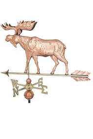 Weathervane - Moose  Polished
