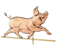 Weathervane - Polished - Whimsical Pig