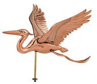 Weathervane - Polished - Heron