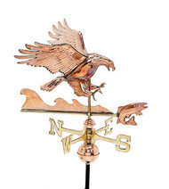 Weathervane - Polished - Eagle w/ Fish