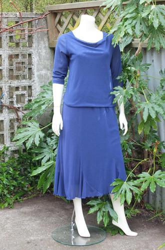 Blue Mesh Skirt