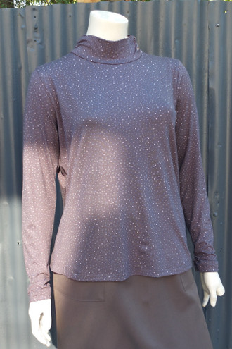 Dotty Gather Neck Skivvy