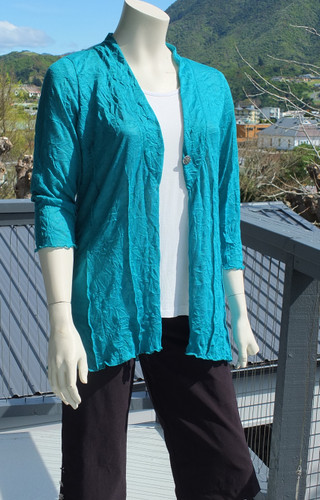 Teal Scrunched Up Cardy