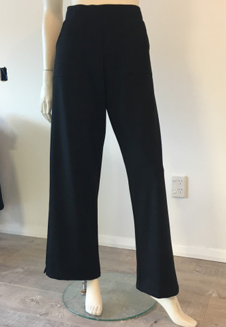 Ponte Wide Leg Trackpants