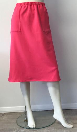 Pink Sweatshirt Skirt