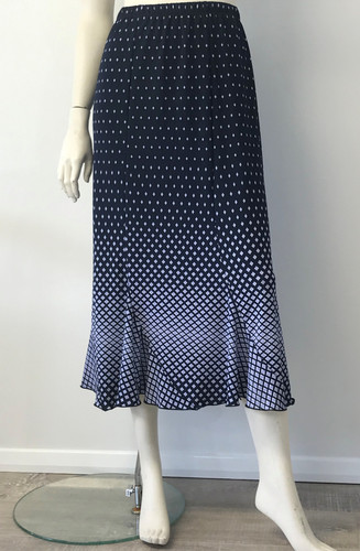 Navy Diamond Skirt