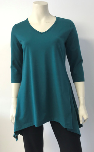Cotton Drop Hem Tunic