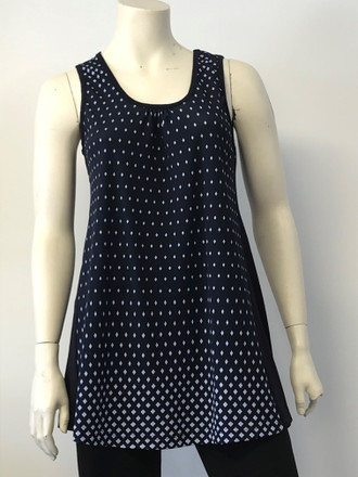 Diamond Sleeveless Tunic