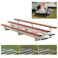 2 Row 15' Preferred Aluminum Bleacher (seats 20) add Color