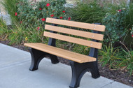 Recycled Plastic Outdoor and Park Bench Comfort Park Avenue Recycled 4'