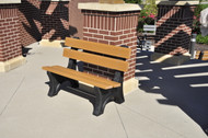 Colonial Recycled Plastic Outdoor and Park Bench - 4'