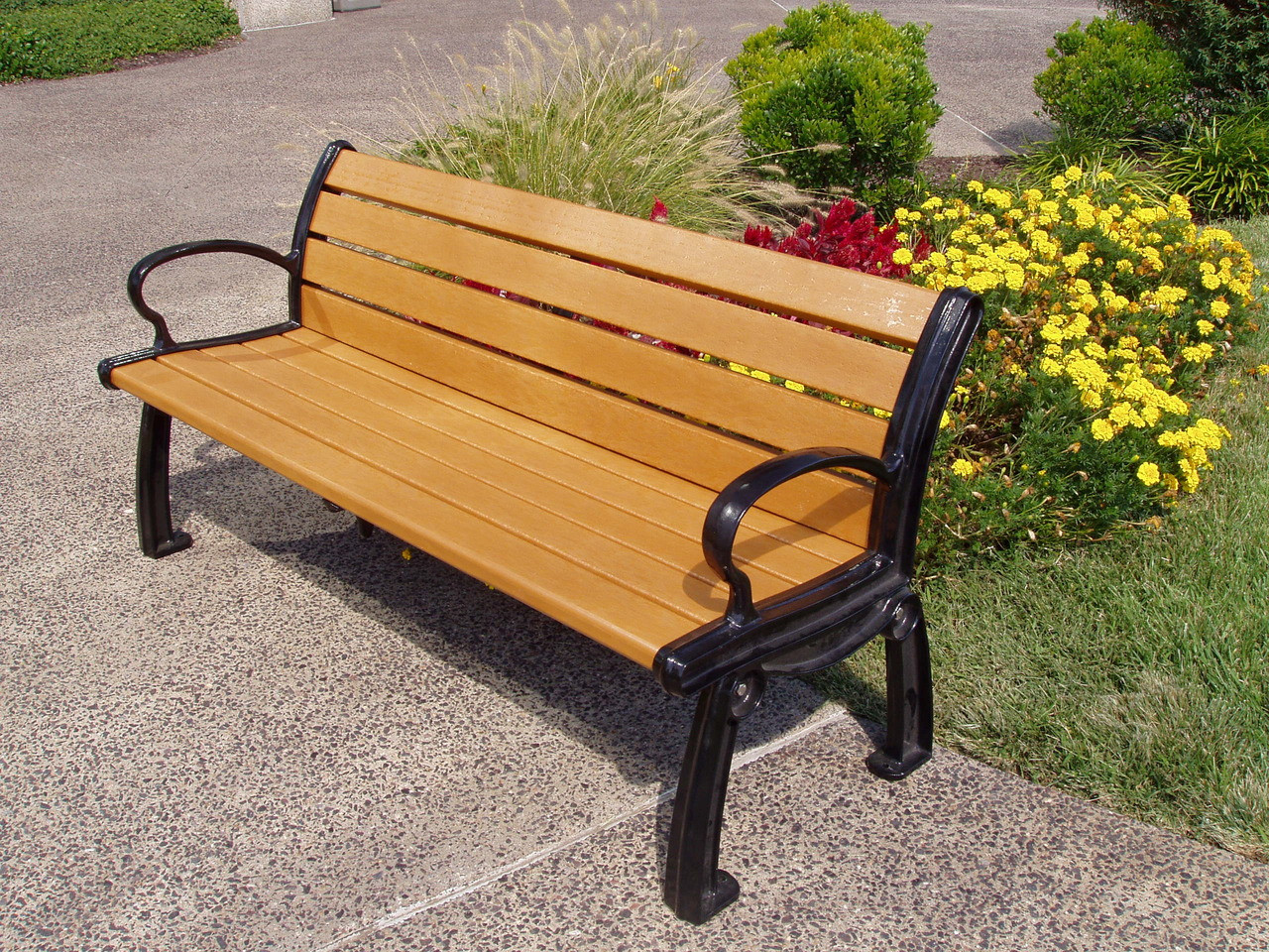 Recycled plastic outdoor and park bench heritage 6