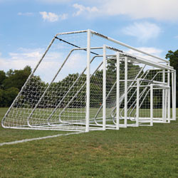 "Alumagoal Soccer Goals 3"" Round White Powder Coated 6.5x18'"