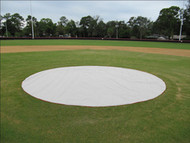 Weighted 6 oz. 30' Diameter Mound & Base Protector - Baseball Field Covers