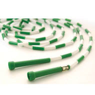 16' Segmented Skip Rope Green/White