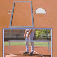 Baseball batter's box foldable template