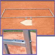 Baseball batter's box adjustable template