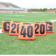 Football Solid Sideline Markers with Handle
