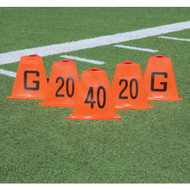 Stackable Football Sideline Markers