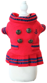 Dog Red Sailor Dress