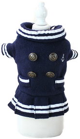 Dog Navy Blue Sailor Dress