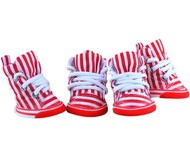 Dog Red/White Striped Trainers