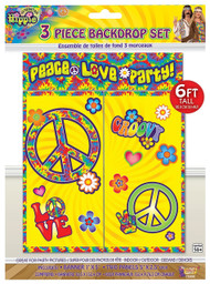 Hippie Backdrop Party Decoration Set