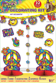 Hippie 10 Piece Party Decoration Kit