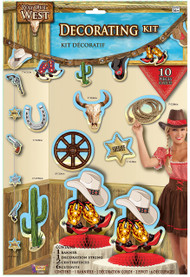 Wild West 10 Piece Party Decoration Kit