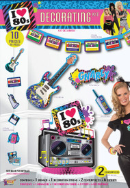 80's 10 Piece Party Decoration Kit