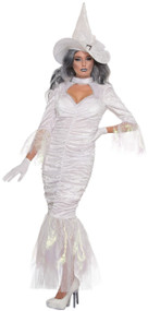 Ladies Mermaid Witch Fancy Dress Costume