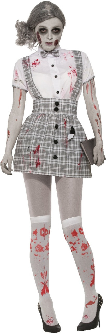 Ladies Sexy Zombie School Girl Fancy Dress Costume - Fancy Me Limited b89d1c9c65d3