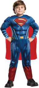 Boys Deluxe Justice League Superman Fancy Dress Costume