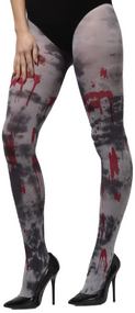 Ladies Opaque Zombie Bloody Tights
