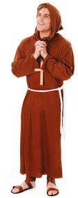 Mens Brown Monk Fancy Dress Costume
