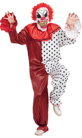 Mens Horror Clown Fancy Dress Costume 1