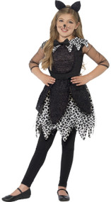 Girls Deluxe Midnight Cat Fancy Dress Costume