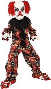 Child's  Deluxe Scary Clown Fancy Dress Costume