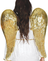 Adults 80cm Gold Cupid Fancy Dress Wings