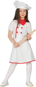 Girls Head Chef Fancy Dress Costume