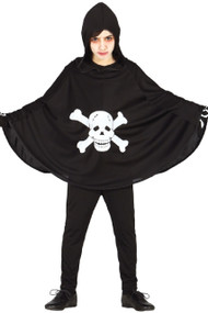 Child's  Skull & Bones Fancy Dress Cape