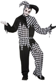 Mens Harlequin Jester Fancy Dress Costume 1