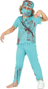 Boys Zombie Surgeon Fancy Dress Costume