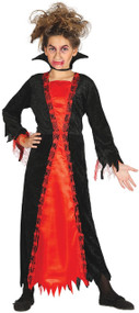 Girls Aged Vampire Fancy Dress Costume