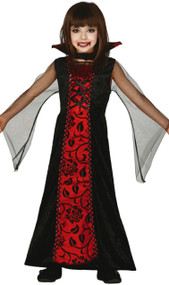 Girls Countess Dracula Fancy Dress Costume