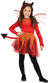Girls Fire Devil Fancy Dress Costume 1