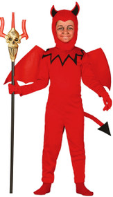 Child's  Red Devil Fancy Dress Costume