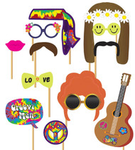 1970's Hippie Photo Booth Fancy Dress Props